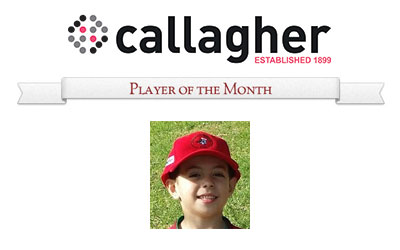 Sam - Player of the Month April 2016