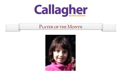 Allegra - Player of the Month April 2013