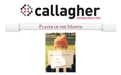 Alex - Player of the Month April 2014