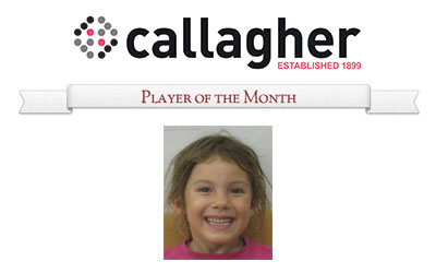 Zoe - Player of the Month August 2014
